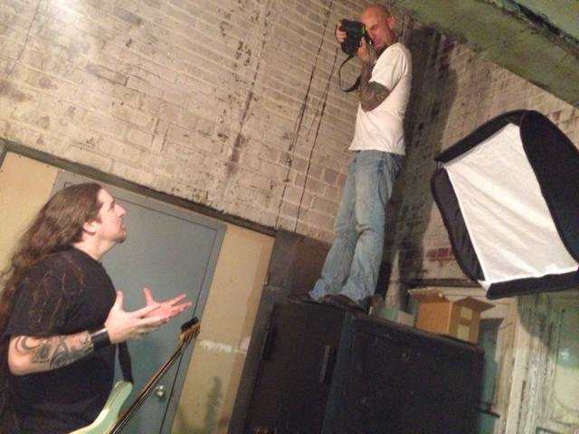 Behind the scenes artist endorsement guitar photo shoot