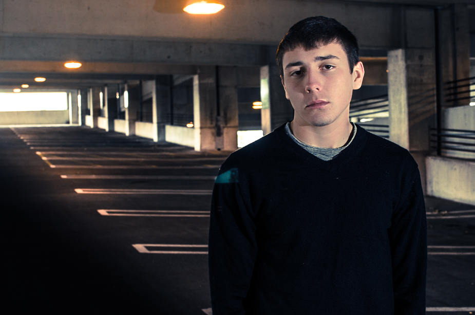 Nick – Lake High School Senior Hartville parking deck Downtown Akron (1 of 2)-2