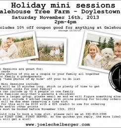 Holiday Tree Farm mini sessions