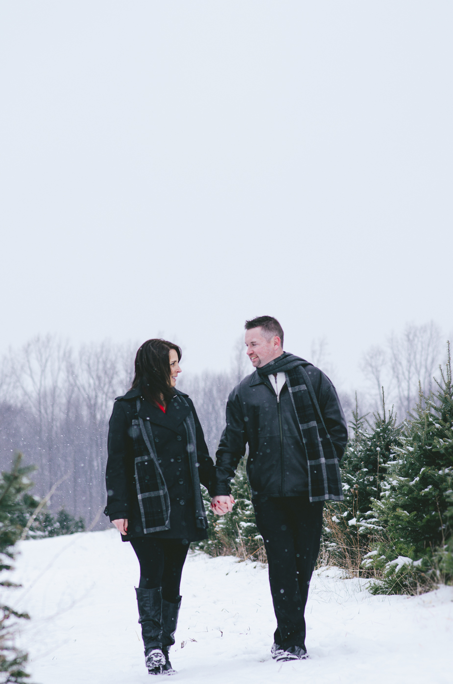 eddie and julie tree farm engagement session