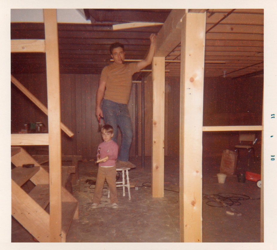 Dad and me workin' on the basement in Hayesville