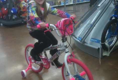 Mallorys new bike