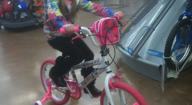 Mallorys new bike
